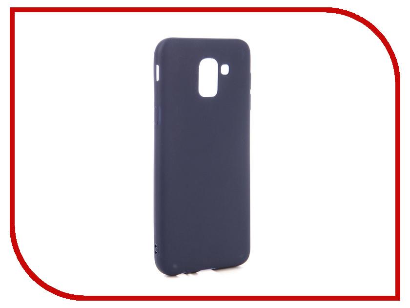 Аксессуар Чехол для Samsung Galaxy J6 2018 Neypo Soft Matte Dark Blue NST4627 ikki anchor patterned flip open pu tpu case w stand for samsung galaxy s5 mini dark blue blue