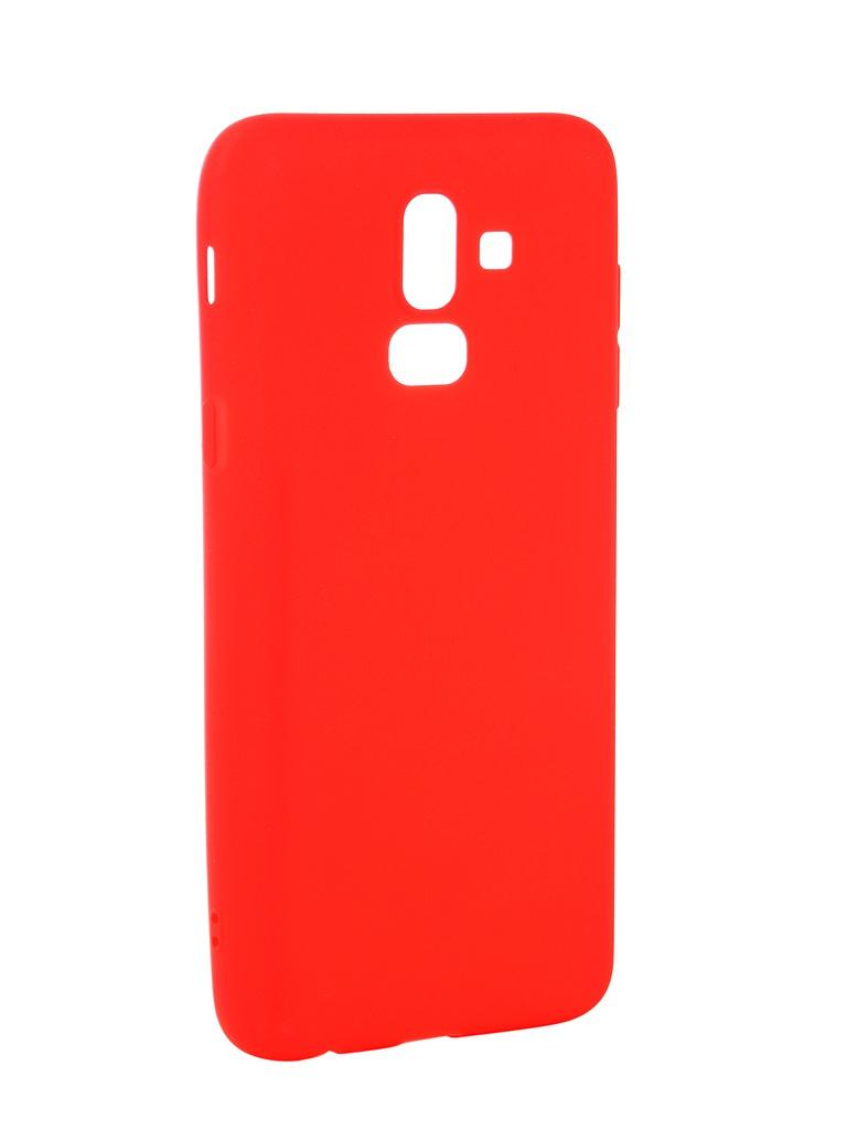 Аксессуар Чехол Neypo для Samsung Galaxy J8 2018 Soft Matte Red NST4901 аксессуар чехол для samsung galaxy a6 plus 2018 neypo soft matte red nst4632