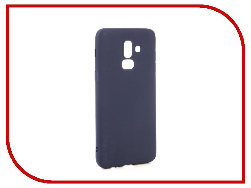 Аксессуар Чехол для Samsung Galaxy J8 2018 Neypo Soft Matte Dark Blue NST4900 аксессуар чехол для samsung galaxy j8 2018 neypo soft matte silicone black nst4703