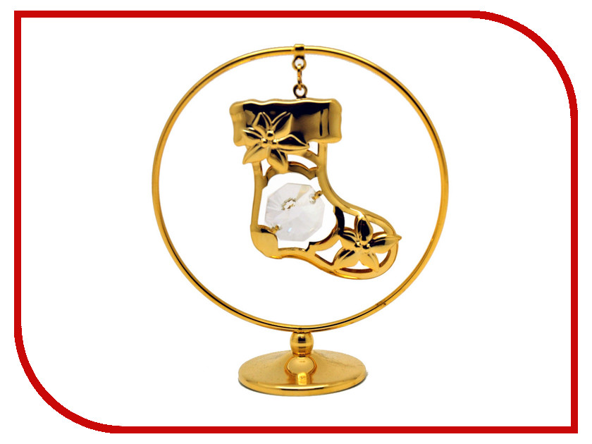 Новогодний сувенир Фигурка Crystocraft Cапожок в кольце 302-105-GCL