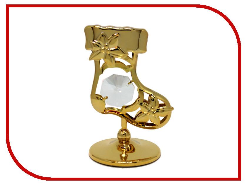 Новогодний сувенир Фигурка Crystocraft Сапожок 302-001-GCL статуэтка crystocraft миниатюра u0314 001 cbl