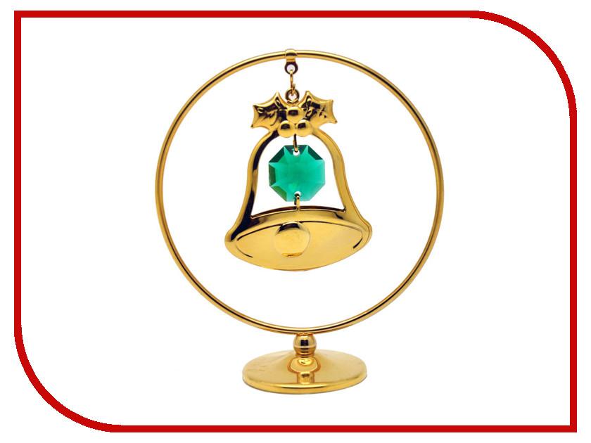Новогодний сувенир Фигурка Crystocraft Колокольчик в кольце 299-105-GEM