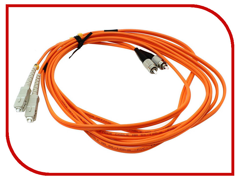 Сетевой кабель VCOM Optical Patch Cord FC-SC UPC Duplex 3m VDU102-3M patch