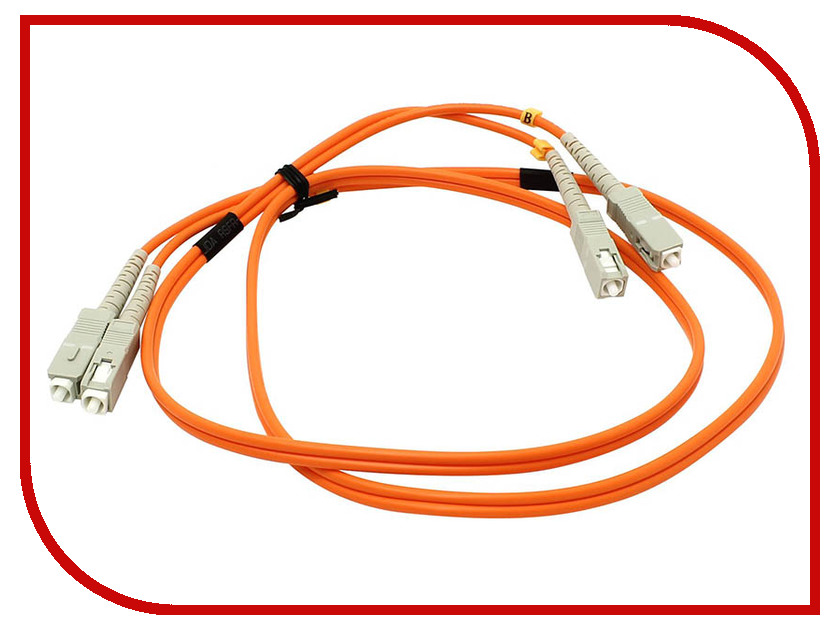 Сетевой кабель VCOM Optical Patch Cord SC-SC UPC Duplex 1m VDU202-1M moshou 24k gold plated male to male connectors digital fever optical fiber wire cables 1m cable