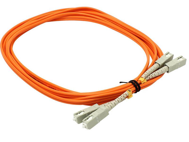 Сетевой кабель VCOM Optical Patch Cord SC-SC UPC Duplex 3m VDU202-3M free shipping noyafa nf 906a portable optical power meter general connector sc fc st 70 to 10dbm