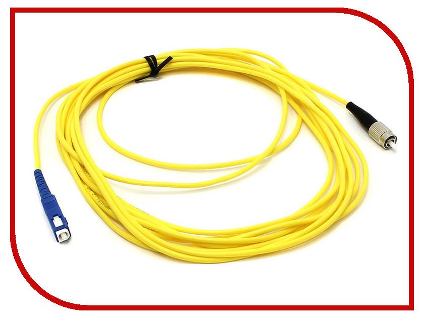 Сетевой кабель VCOM Optical Patch Cord FC-SC UPC Simplex 5m VSU102-5M patch