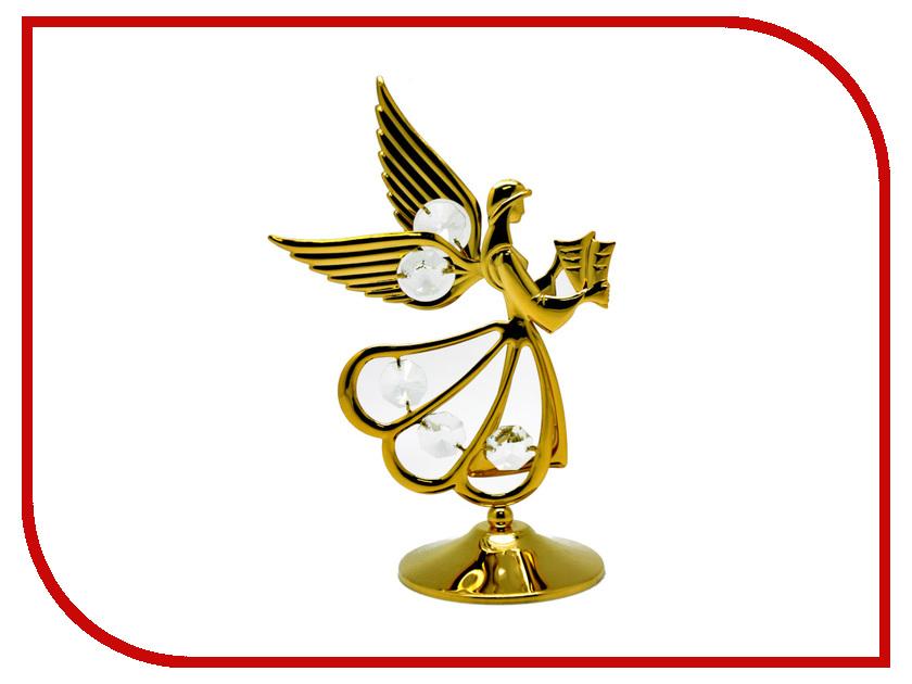 Новогодний сувенир Фигурка Crystocraft Ангел с книгой 10-001-GCL фигурки crystocraft фигурка ангел с голубем