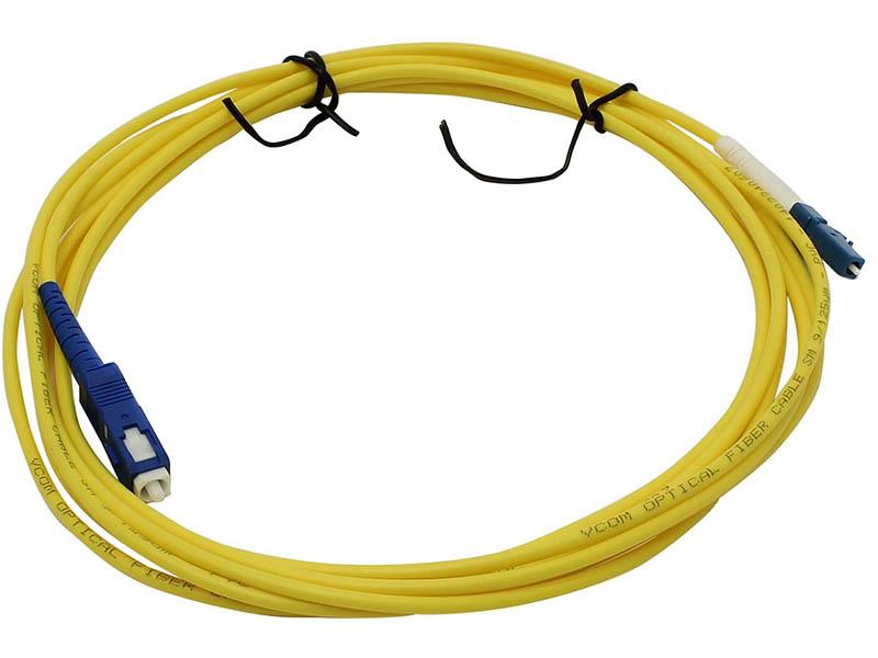 Сетевой кабель VCOM Optical Patch Cord LC-SC UPC Simplex 3m VSU302-3M кабель s video vcom vav7187 3m 3 м