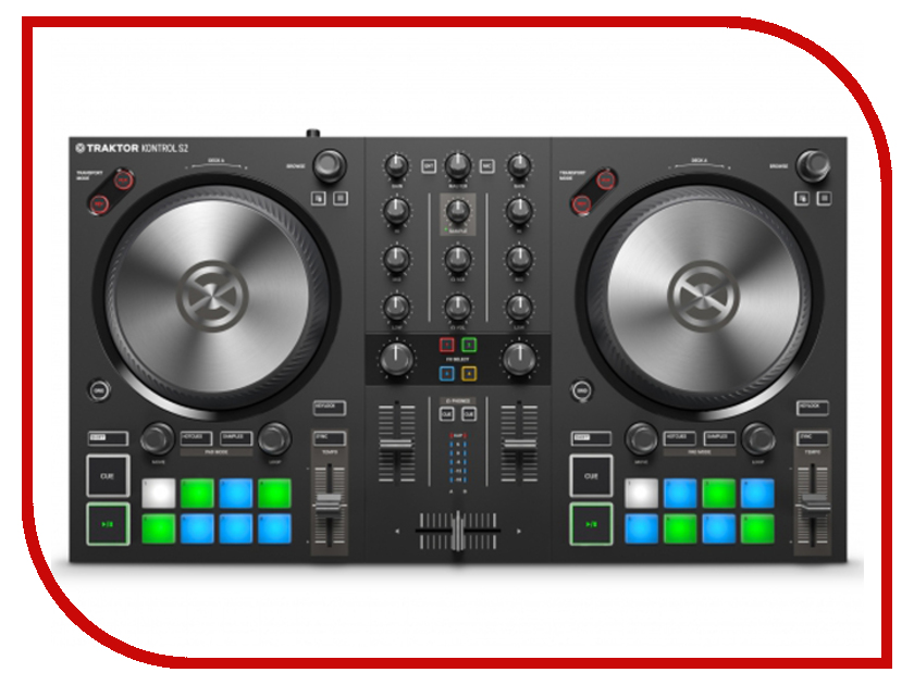 Dj контроллер Native Instruments Traktor Kontrol S2 Mk3 аудиоинтерфейс native instruments komplete audio 6