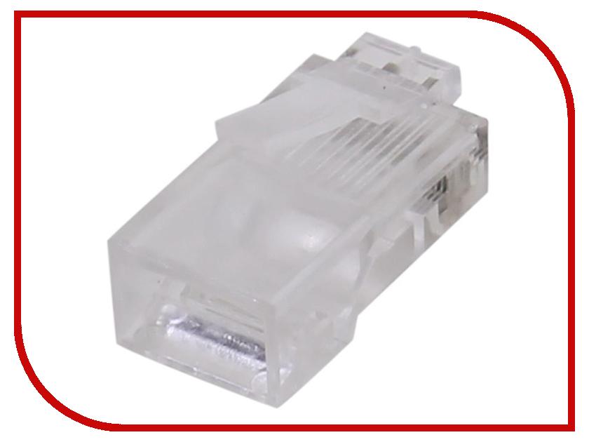 Коннектор VCOM RJ-45 8P8C VNA2200-1/20 - 20шт коннектор rj 45 ftp 6 8p8c со вставкой