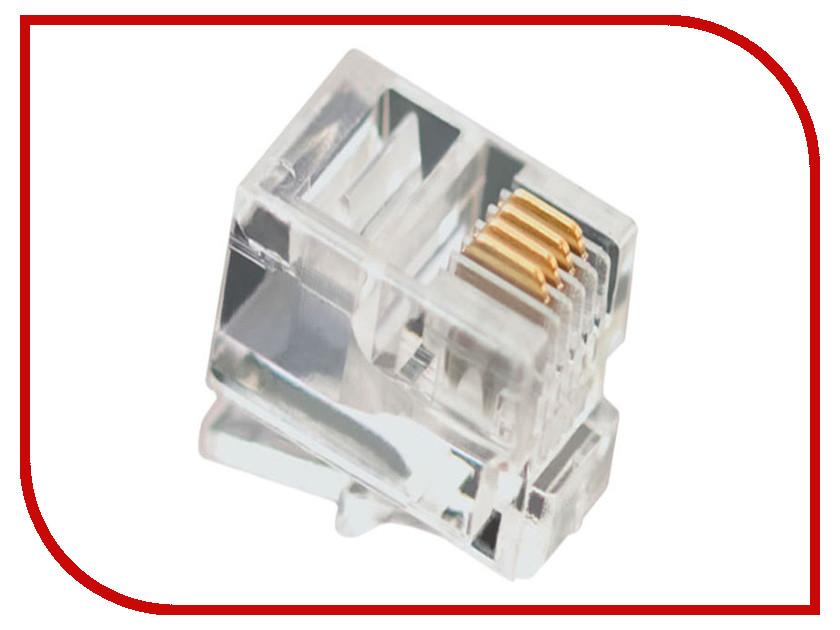 Коннектор VCOM RJ-11 6P4C VTE7716-1/100 - 100шт коннектор rj 12 6p4c 100шт proconnect 05 1012 3