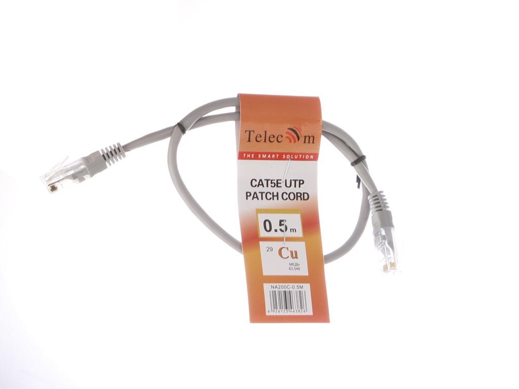 Сетевой кабель Telecom UTP cat.5e 0.5m NA200C-0.5M Grey