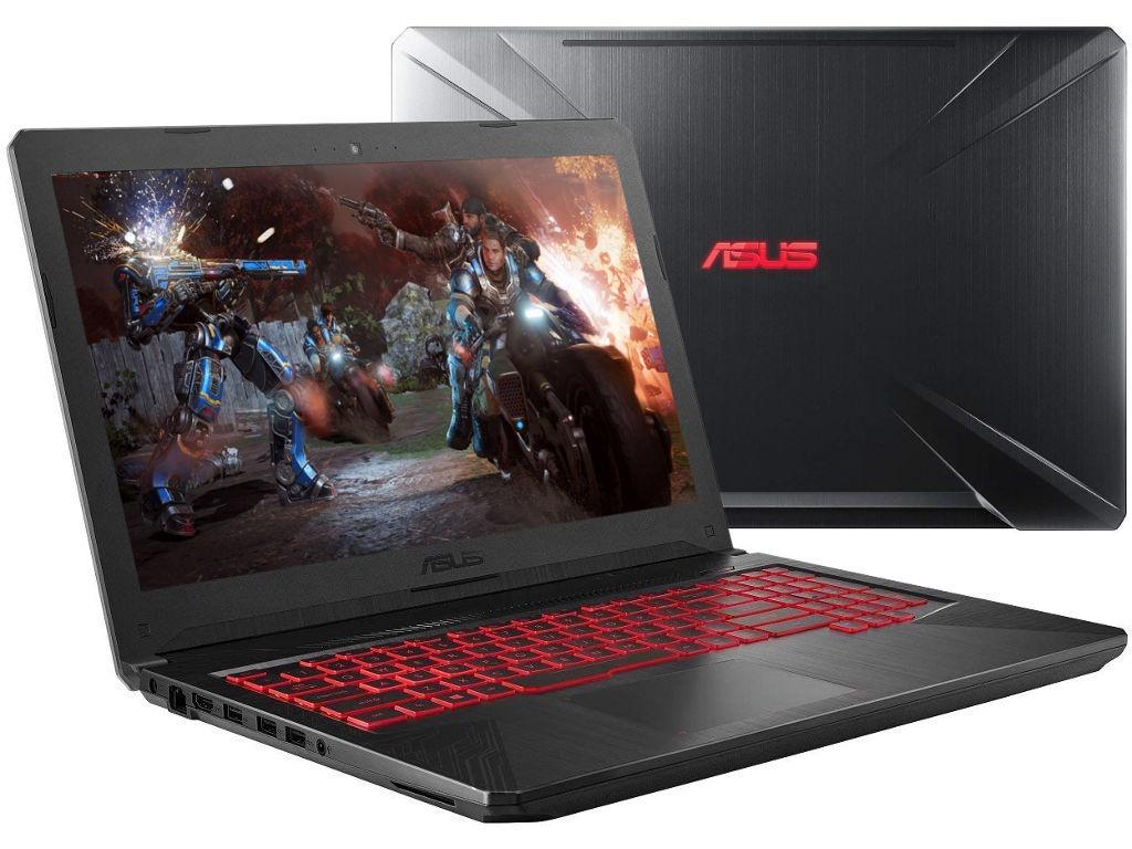 Ноутбук ASUS TUF FX504GE-E4536T 90NR00I3-M09170 Metal (Intel i5 8300H 2.3GHz/16384Mb/1000Gb + 128Gb SSD/No ODD/nVidia GeForce GTX 1050 Ti 4096Mb/Wi-Fi/Bluetooth/Cam/15.6/1920x1080/Windows 10 64-bit)