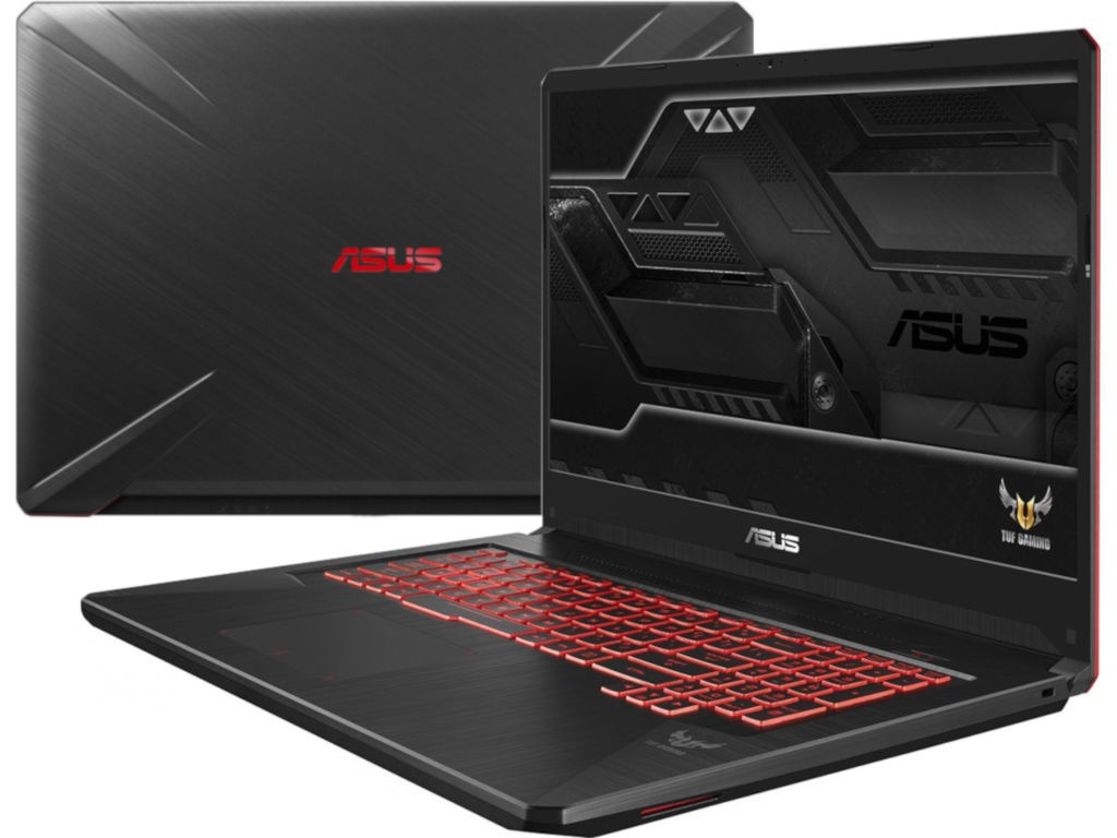 Ноутбук ASUS TUF FX705GD-EW081T 90NR0112-M01610 Black (Intel i5 8300H 2.3GHz/8192/1000Gb +128Gb SSD/No ODD/nVidia GeForce GTX 1050 4096Mb/Wi-Fi/Bluetooth/Cam/17.3/1920x1080/Windows 10 64-bit)