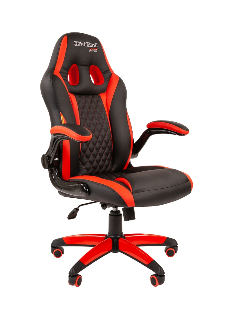 Компьютерное кресло Chairman Game 15 Black-Red