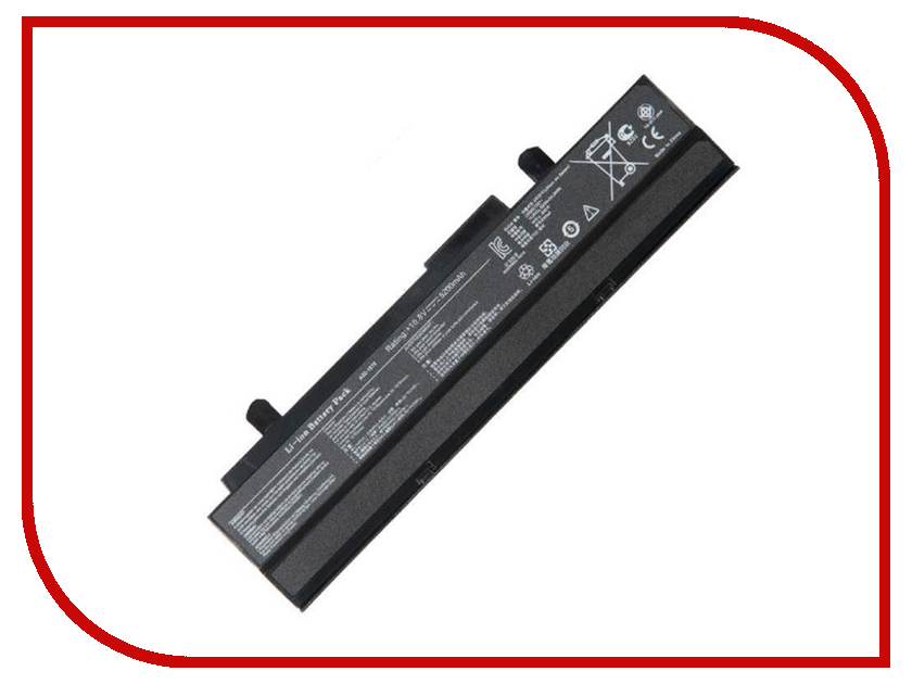 Аккумулятор RocknParts для Asus PC 1015PE/1015PED/1015PN/1015PW/1015T/1015B/1016/1215N/1215P/1215T/VX6 5200mAh 10.8V Black 511115 korea cell new a32 1015 laptop battery for asus eee pc 1015 1015p 1015pe 1015pw 1215n 1016 1016p 1215 a31 1015 11 25v 5600mah