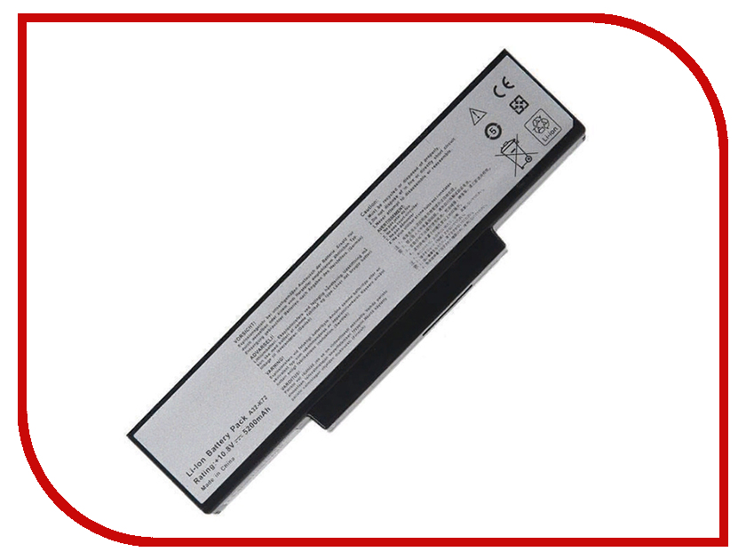 Аккумулятор RocknParts для Asus K72/K72JK/K72JR/K72F/K73/K72D/K72J/K72Q/K72JF/N71/N73/X77 5200mAh 10.8V 435862 все цены