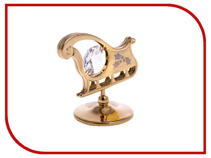 Новогодний сувенир Фигурка Crystocraft Сани 303-001-GCL фигурки crystocraft фигурка ангел с голубем