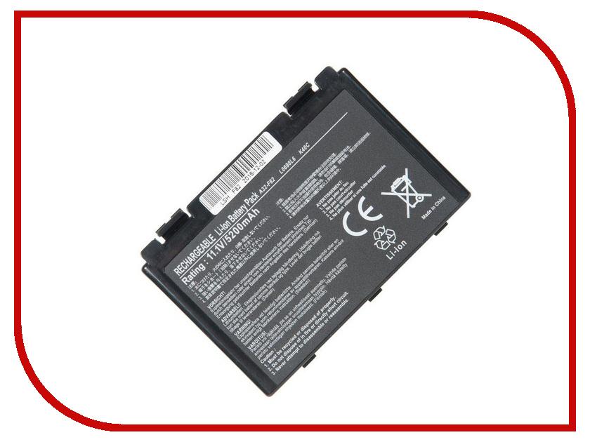 Аккумулятор RocknParts для Asus K40/K50/K70/F82/X5 5200mAh 11.1V 575147 аккумулятор asus a32 f82 for k40 k50 p50