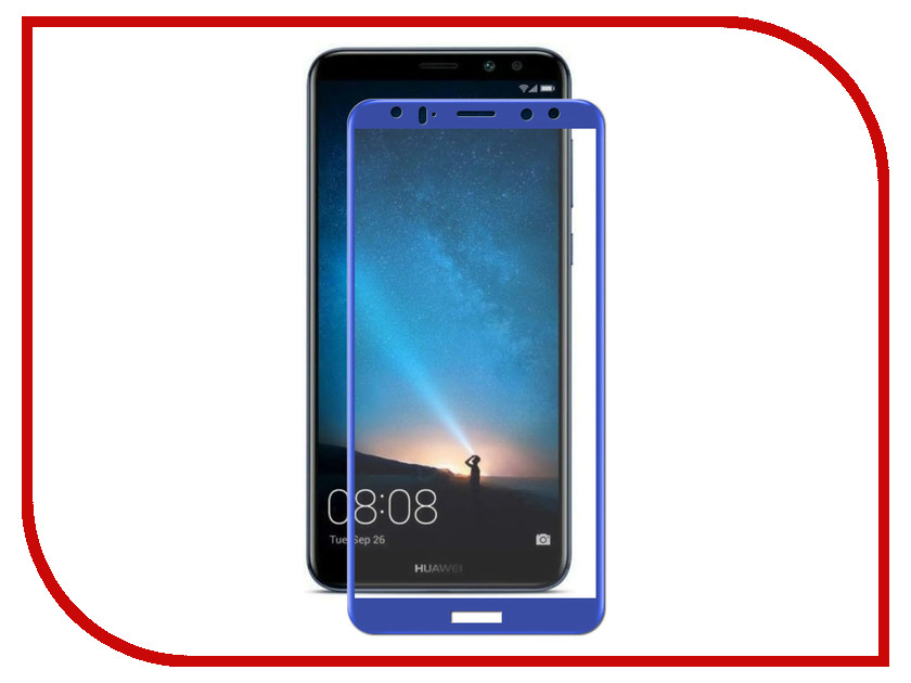 Аксессуар Защитное стекло для Huawei Ascend Mate 10 Lite Ainy Full Screen Cover 0.33mm Blue AF-Hb1211F