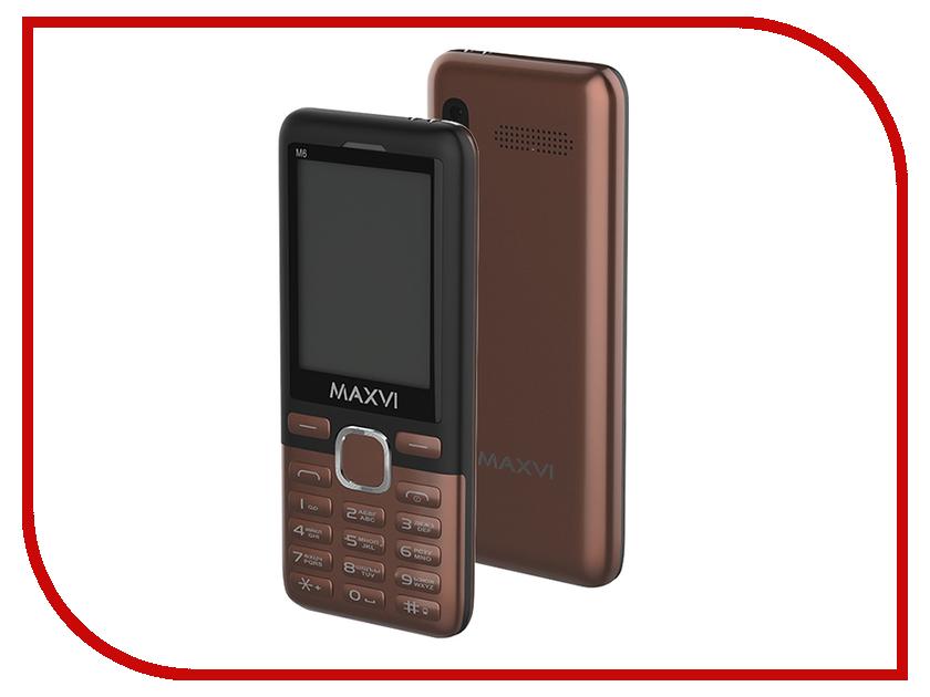 Сотовый телефон Maxvi M6 Coffee-Black сотовый телефон maxvi c22 black