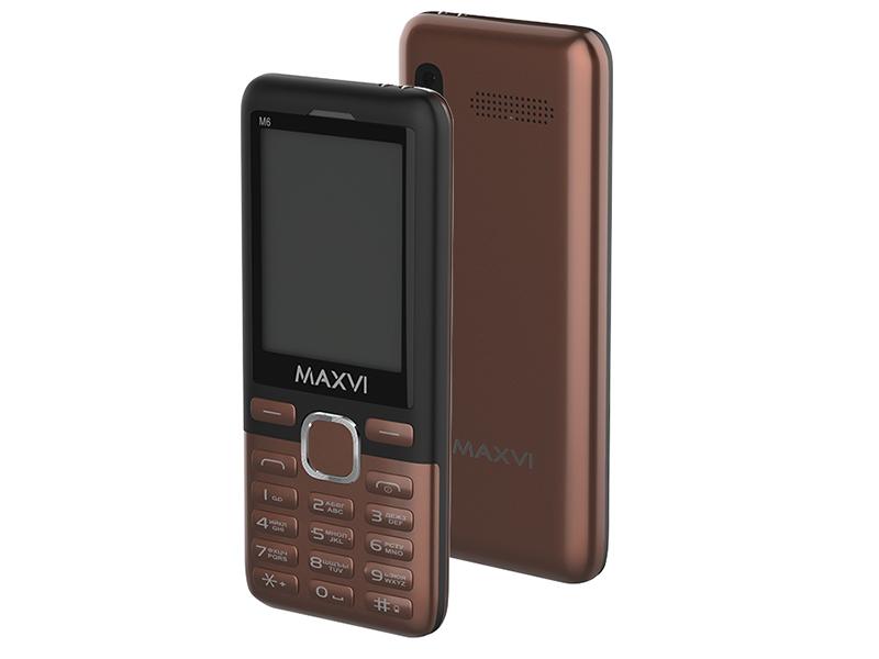 Сотовый телефон Maxvi M6 Coffee-Black сотовый телефон maxvi c20 black