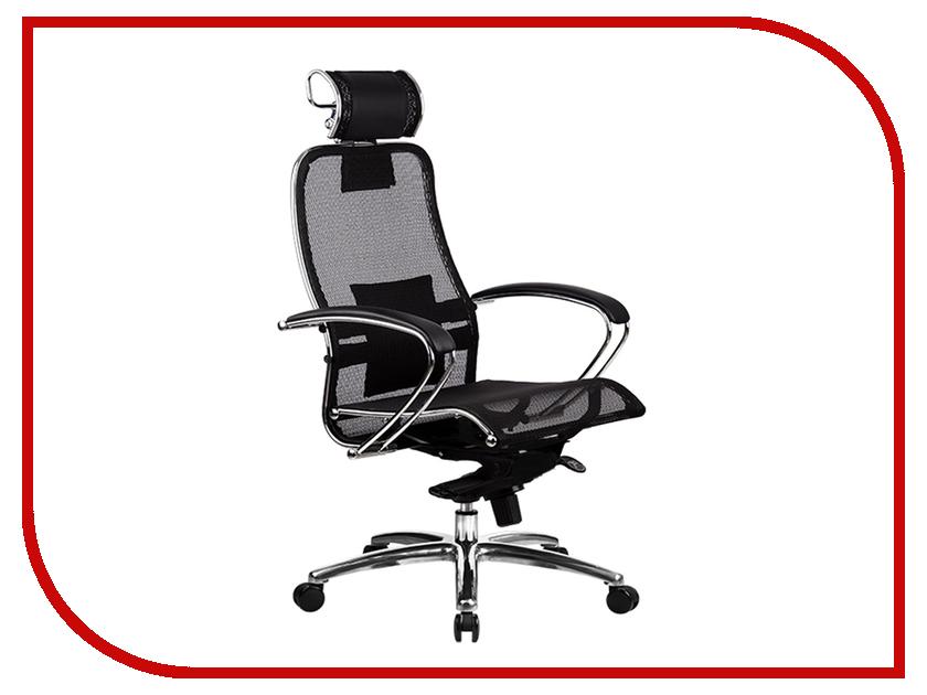 Компьютерное кресло Метта Samurai S-2.02 Black с 3D подголовником кресло метта samurai s 1 black python edition черный сетка