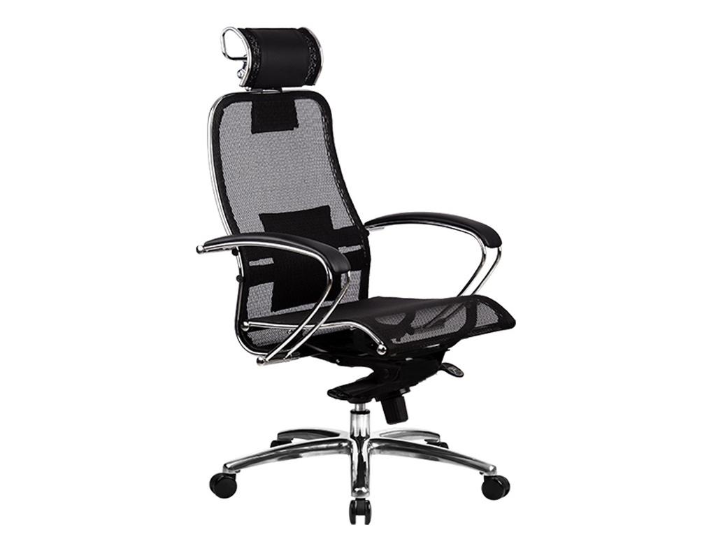 Компьютерное кресло Метта Samurai S-2.02 / S-2.03 Black с 3D подголовником компьютерное кресло метта samurai s 1 02 s 1 03 beige