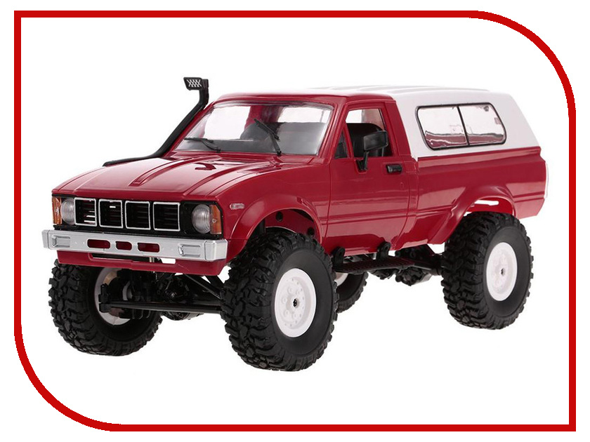 Игрушка Aosenma Military Truck Buggy Crawler RTR 4WD 1:16 Dark Red WPLC-24-R huanqi 731 rc car 2 4ghz 2ch 1 16 4wd high speed 35km h off road buggy rtr high speed racing car toy remote control rock crawler