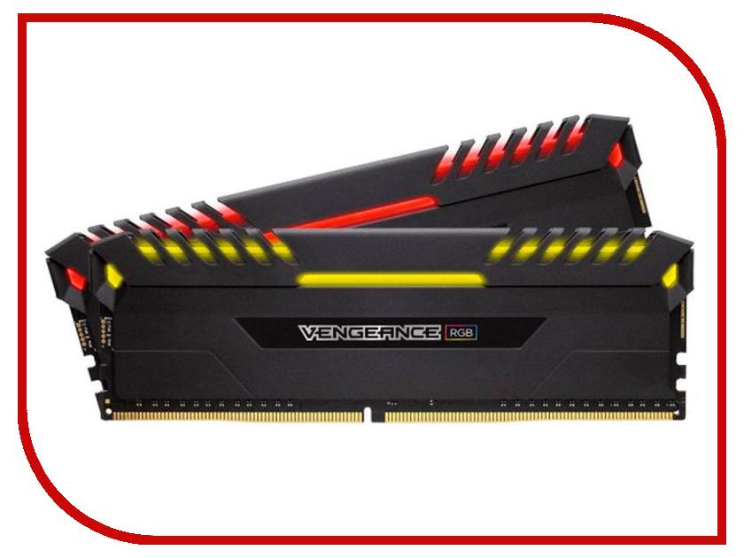 Модуль памяти Corsair Vengeance RGBDDR4 DIMM 2933MHz PC4-25600 CL16 - 16Gb KIT (2x8Gb) CMR16GX4M2Z2933C16 модуль памяти corsair vengeance lpx ddr4 dimm 3200mhz pc4 25600 16gb kit 2x8gb cmk16gx4m2d3200c16