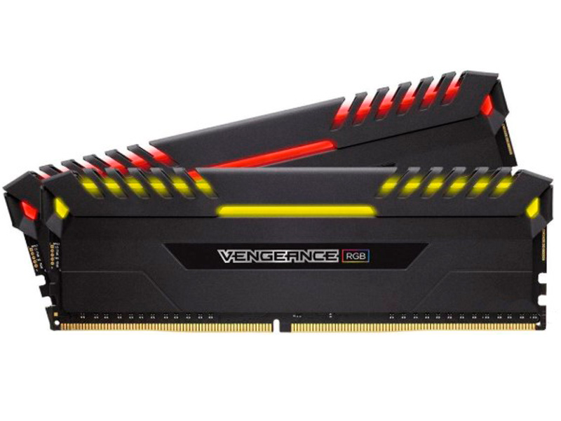 Модуль памяти Corsair Vengeance RGB DDR4 DIMM 2933MHz PC4-25600 CL16 - 16Gb KIT (2x8Gb) CMR16GX4M2Z2933C16