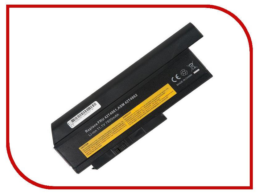 Аккумулятор RocknParts для Lenovo ThinkPad X220/X220i/X220s 7800mAh 11.1V 470530 аккумулятор для lenovo thinkpad edge 13 серия e30 e31 42t4857 42t4806 42t4812 57y4564 15 0v 2800mah 4 элементный аккумулятор ноутб