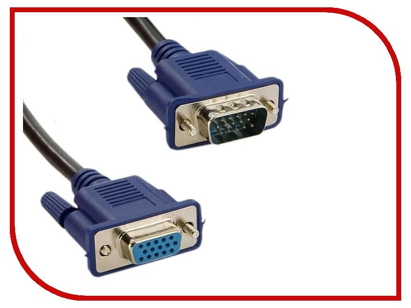 Аксессуар TV-COM VGA M - VGA F 5m QCG342AD-5M unitek y c505 vga male to vga male converter extension cable 5m