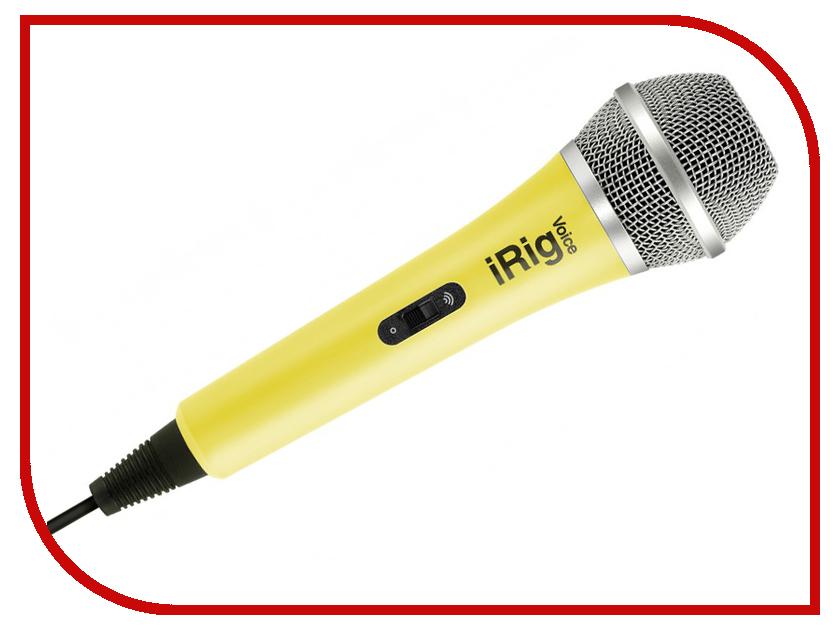 Микрофон IK Multimedia iRig Voice Yellow IP-IRIG-MICVOY-IN аудиоинтерфейс ik multimedia irig pro i o