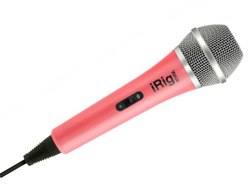 Микрофон IK Multimedia iRig Voice Pink IP-IRIG-MICVOP-IN ik multimedia irig 2