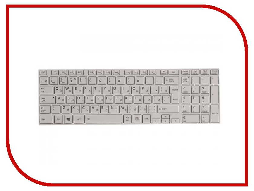 Клавиатура RocknParts для Toshiba Satellite P850/P855/p870/p870d/p875/p875d White 209070 nokotion for toshiba satellite c850 c850d laptop motherboard ddr3 cpu onboard mainboard h000042200
