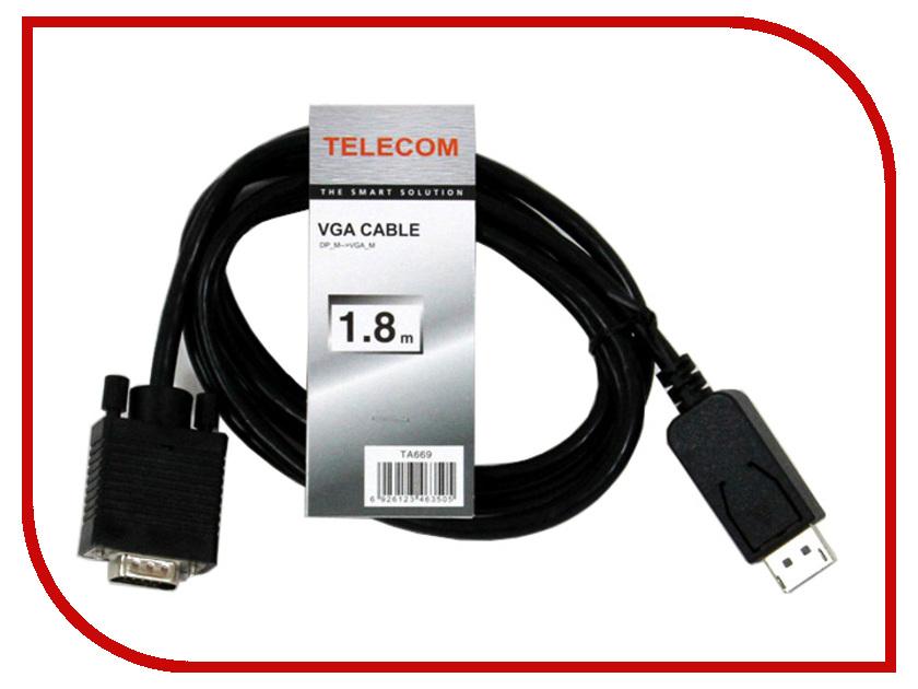 Аксессуар Telecom DisplayPort M to VGA M 1.8m TA669-1.8M