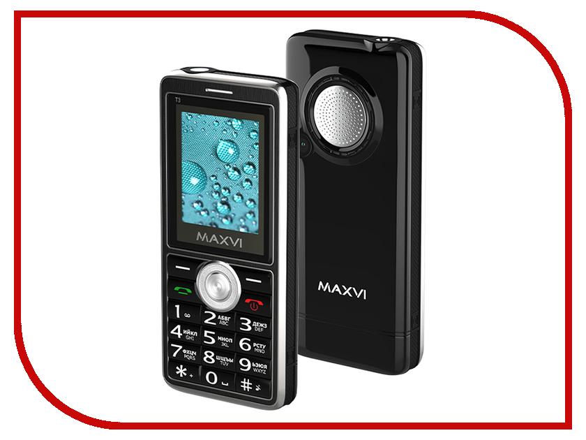 Сотовый телефон MAXVI T3 Black сотовый телефон maxvi p1 blue black