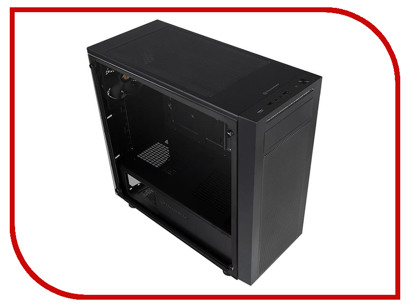 Корпус Thermaltake Versa J22 TG Black CA-1L5-00M1WN-00 корпус системного блока thermaltake versa n23 ca 1e2 00m1wn 00 black ca 1e2 00m1wn 00