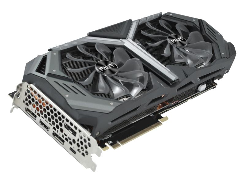 Видеокарта Palit GeForce RTX 2080 GameRock Premium 1515Mhz PCI-E 3.0 8192Mb 14000Mhz 256 bit HDMI 3xDP USB-C NE62080H20P2-1040G