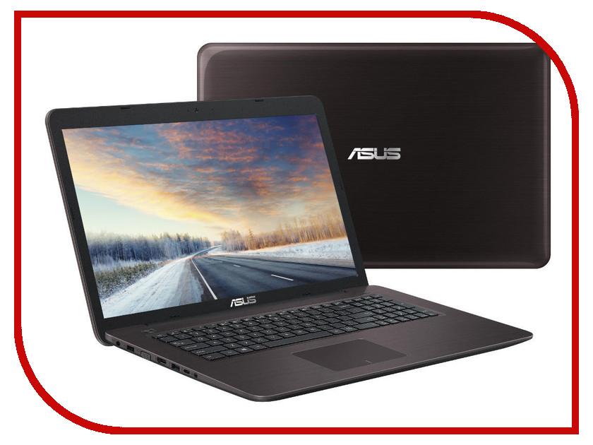 Ноутбук ASUS X756UA-T4613D 90NB0A01-M07650 Dark Brown (Intel Core i3-6006U 2.0 GHz/8192Mb/1000Gb/DVD-RW/Intel HD Graphics/Wi-Fi/Bluetooth/Cam/17.3/1920x1080/DOS)