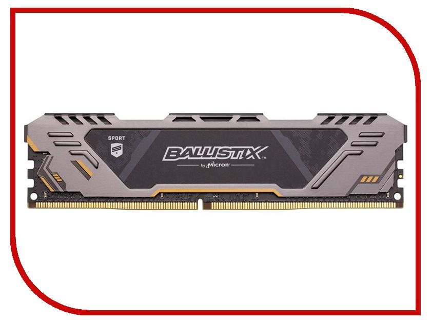 Модуль памяти Crucial Ballistix Sport AT DDR4 DIMM 3000MHz PC4-24000 CL17 - 8Gb BLS8G4D30CESTK crucial ballistix sport lt ddr4 8gb 2666 мгц white модуль оперативной памяти bls8g4d26bfsck