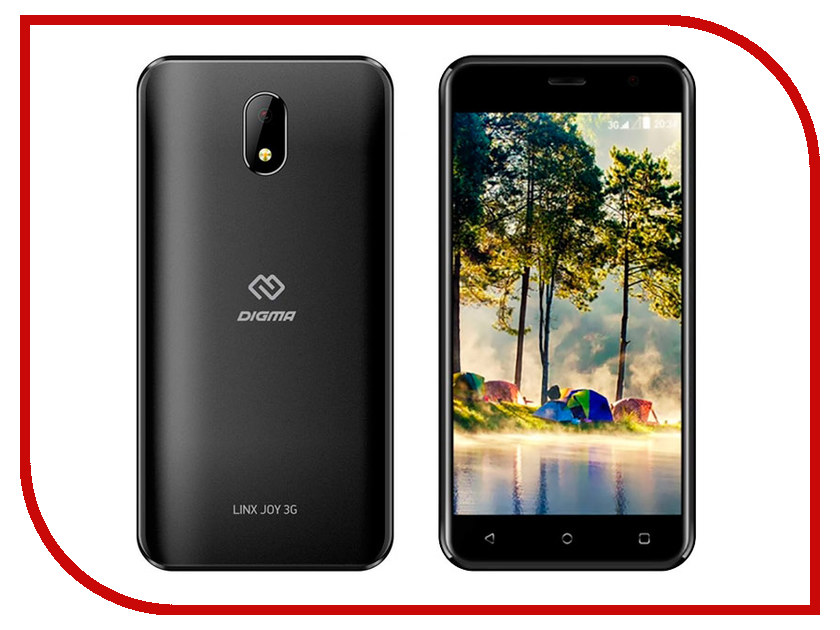 Сотовый телефон Digma LINX JOY 3G Black смартфон digma linx b510 3g black