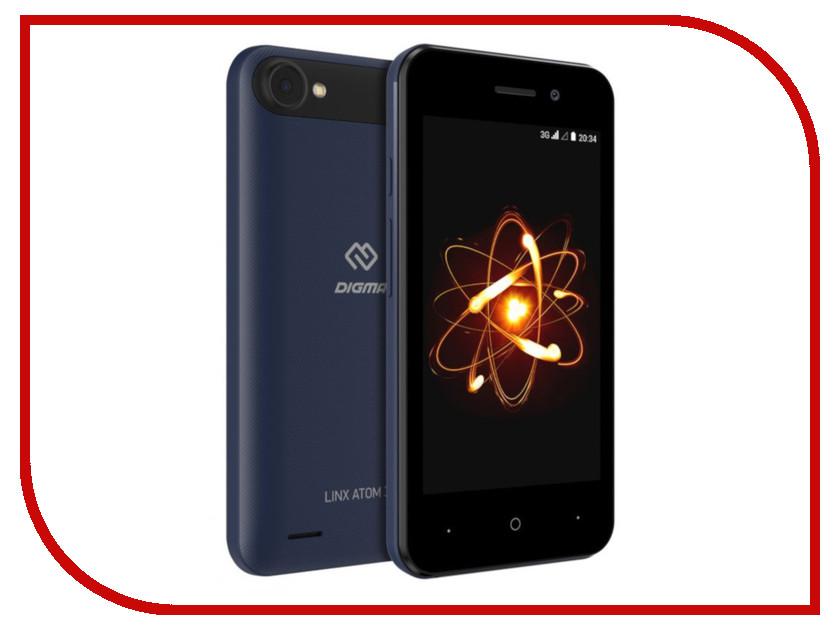 Сотовый телефон Digma Linx Atom 3G Dark Blue digma optima 7 21 7 4gb 3g dark blue