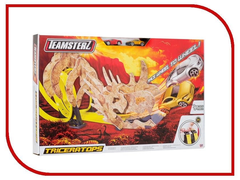 Автотрек HTI Teamsterz Triceratops треки hti автотрек hti teamsterz динозавр велоцераптор с 1 машинкой и пусковой установкой