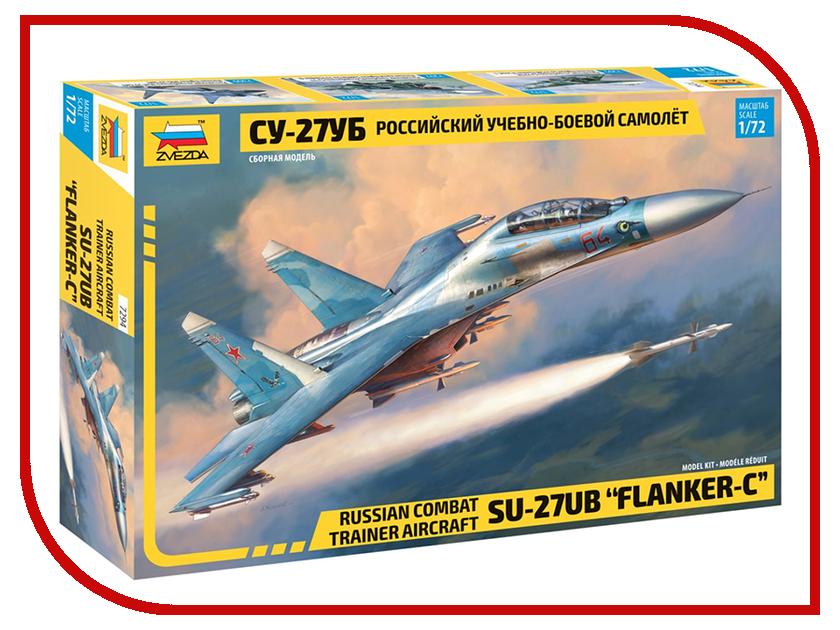Сборная модель Zvezda Российский учебно-боевой самолет Су-27УБ 7294 модель для склеивания zvezda 7307 российский учебно боевой самолет як 130