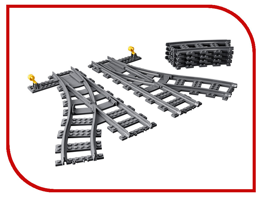 Конструктор Lego City Дополнительные элементы для поезда 8 дет. 60238 конструктор lele city сверхмощный спасательный 448 дет 02068