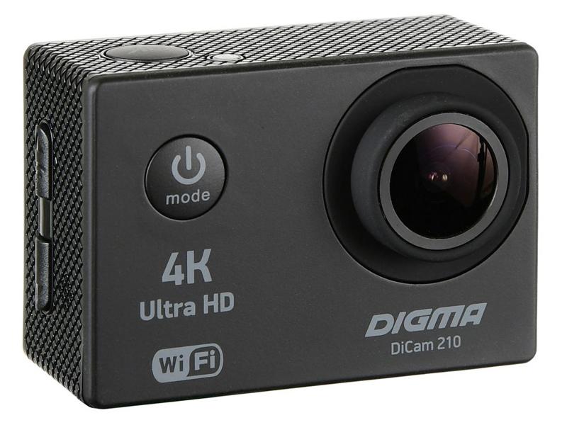 Экшн-камера Digma DiCam 210 Black цена и фото