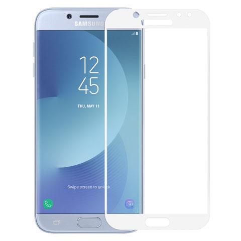 Стекло защитное Krutoff Full Screen для Samsung Galaxy J7 2017 SM-J730 White 02553