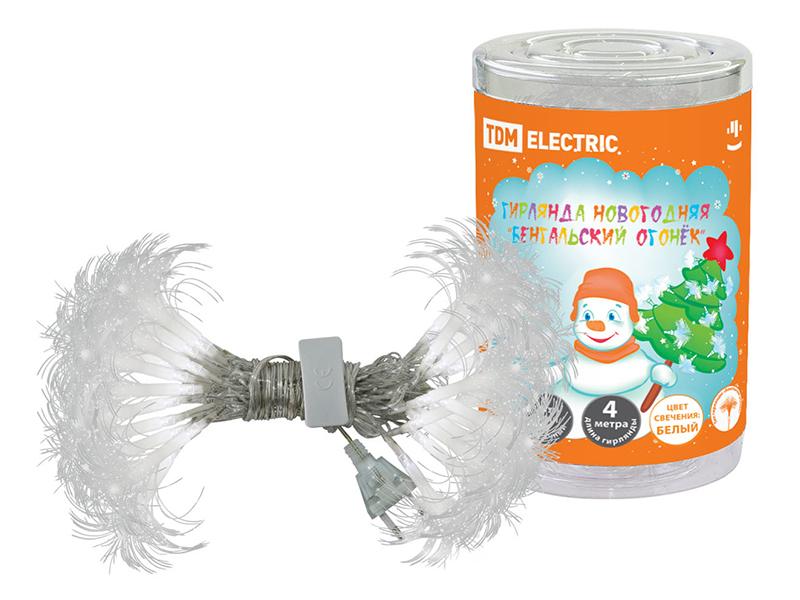цена на Гирлянда TDM-Electric Бенгальский огонек 4m White Glow SQ0361-0033